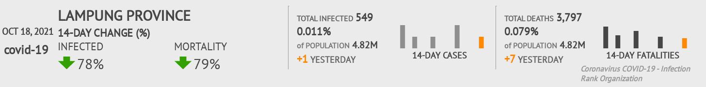 Lampung Coronavirus Covid-19 Risk of Infection on July 24, 2021