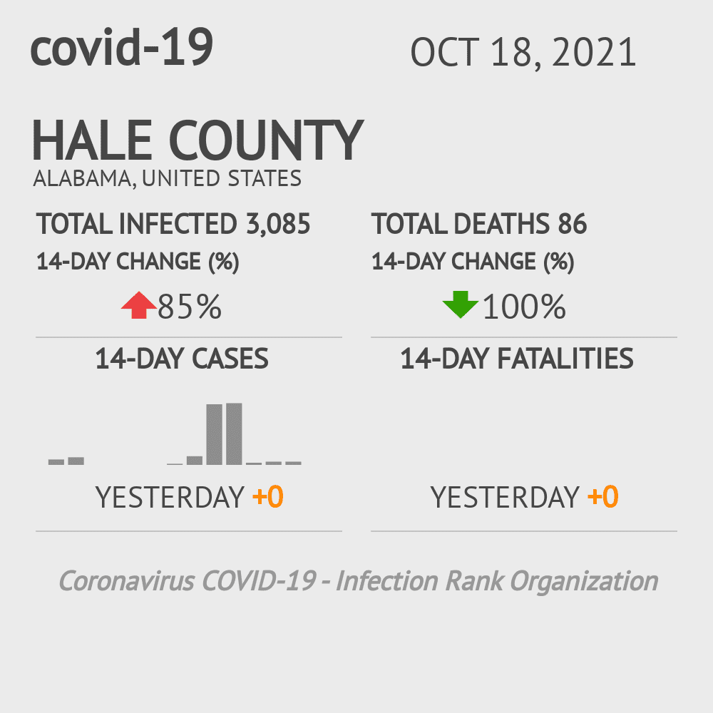 Hale County Coronavirus Covid-19 Risk of Infection on March 23, 2021