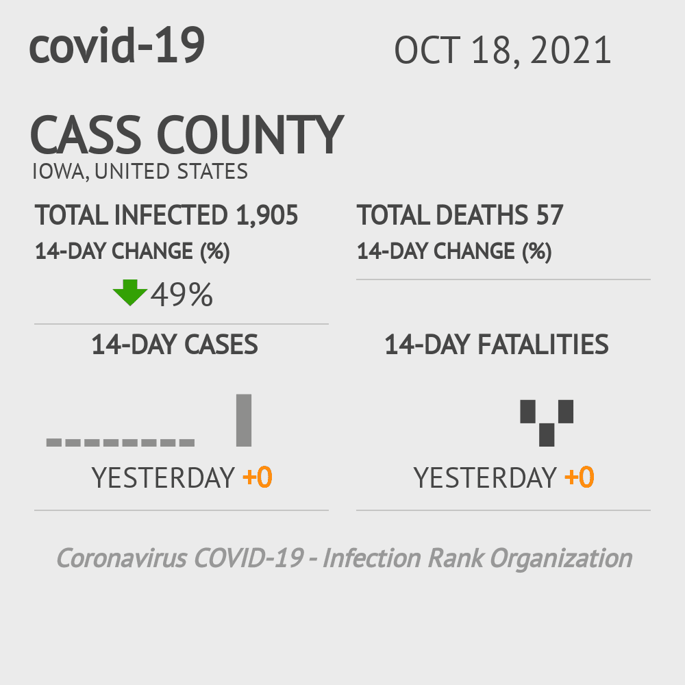 Cass County Coronavirus Covid-19 Risk of Infection on March 02, 2021