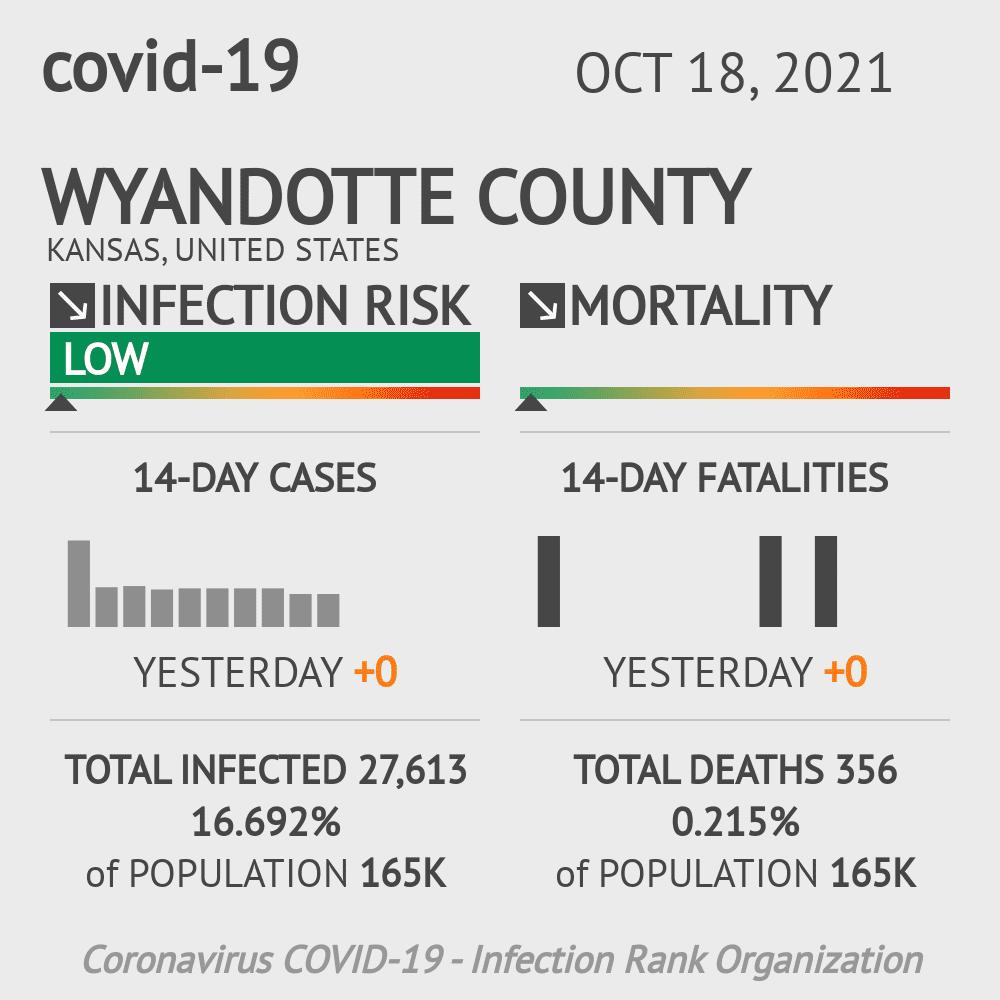 Wyandotte County Coronavirus Covid-19 Risk of Infection on July 24, 2021