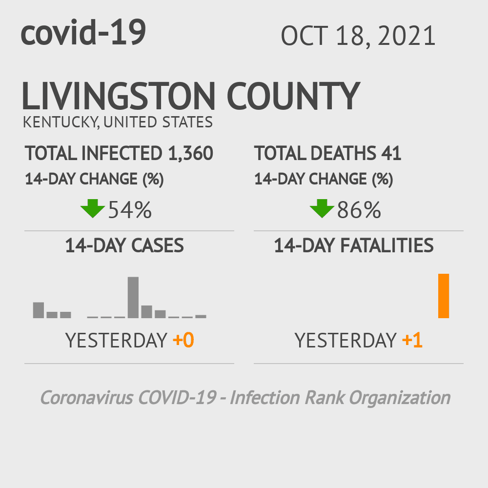 Livingston County Coronavirus Covid-19 Risk of Infection on March 07, 2021