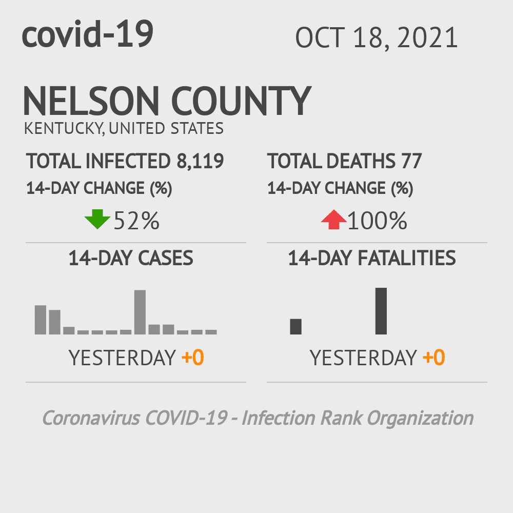 Nelson County Coronavirus Covid-19 Risk of Infection on February 23, 2021