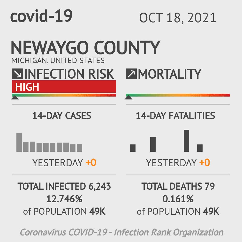 Newaygo County Coronavirus Covid-19 Risk of Infection on November 26, 2020