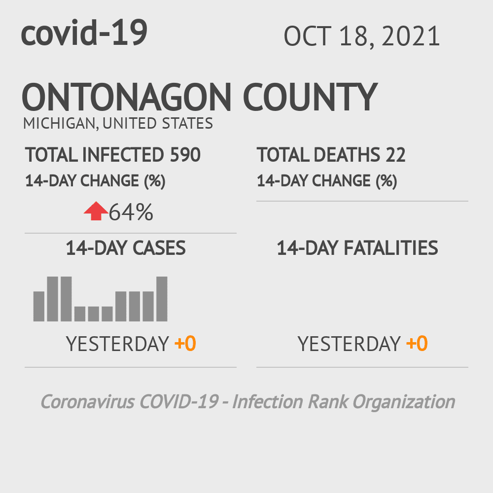 Ontonagon County Coronavirus Covid-19 Risk of Infection on November 24, 2020