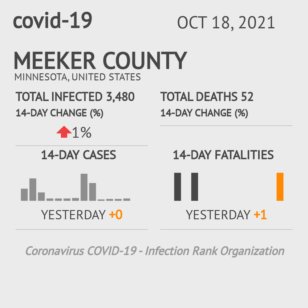 Meeker County Coronavirus Covid-19 Risk of Infection on March 04, 2021