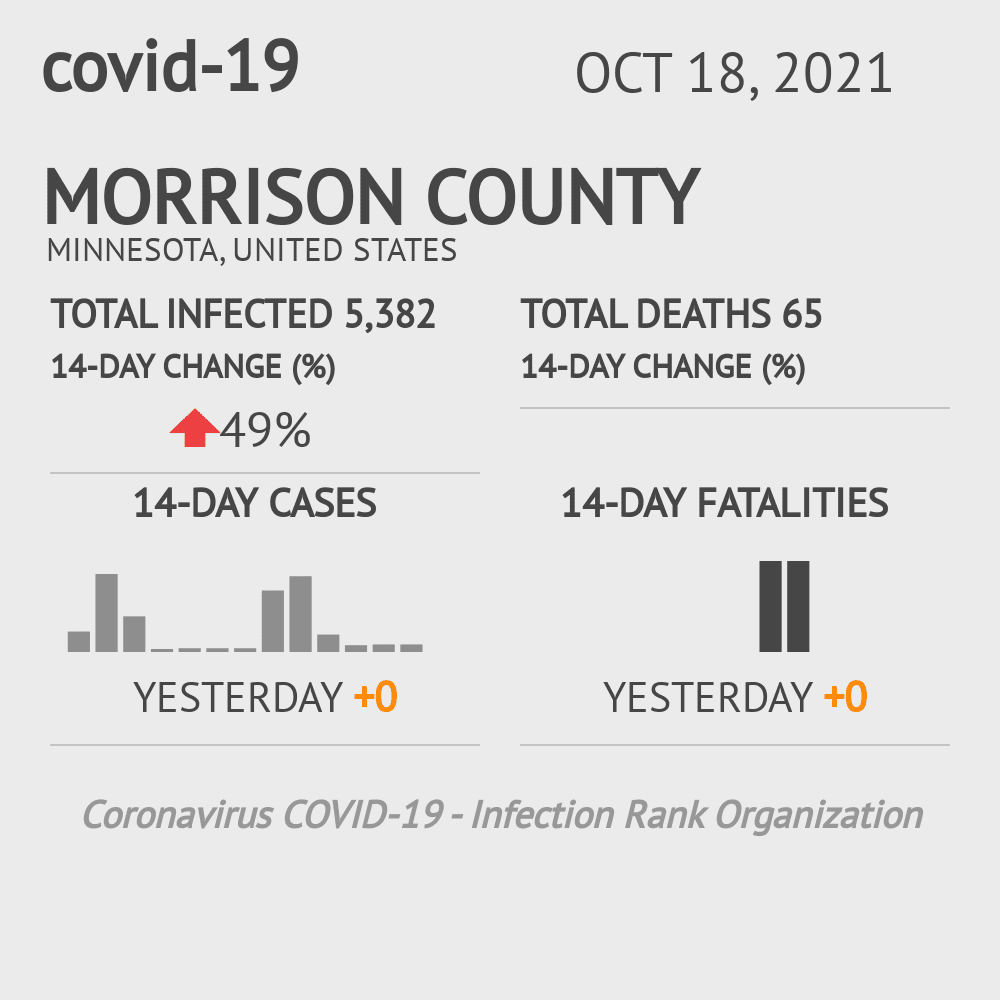 Morrison County Coronavirus Covid-19 Risk of Infection on July 24, 2021