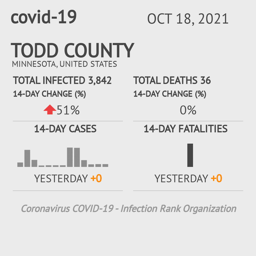 Todd County Coronavirus Covid-19 Risk of Infection on July 24, 2021