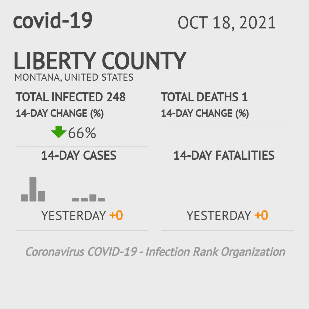 Liberty County Coronavirus Covid-19 Risk of Infection on July 24, 2021