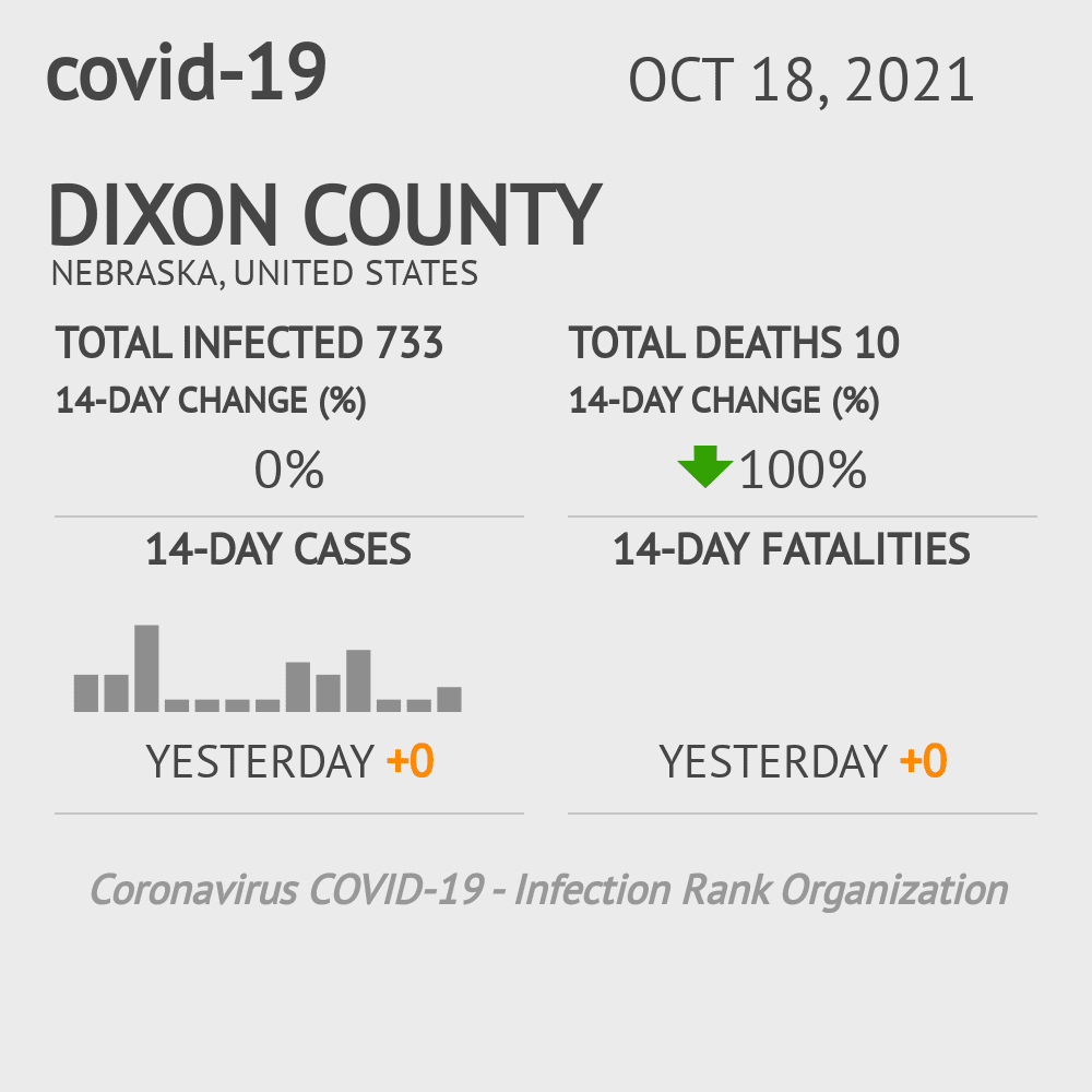 Dixon County Coronavirus Covid-19 Risk of Infection on February 26, 2021