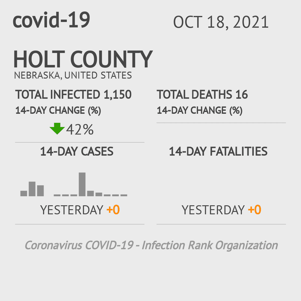 Holt County Coronavirus Covid-19 Risk of Infection on March 23, 2021