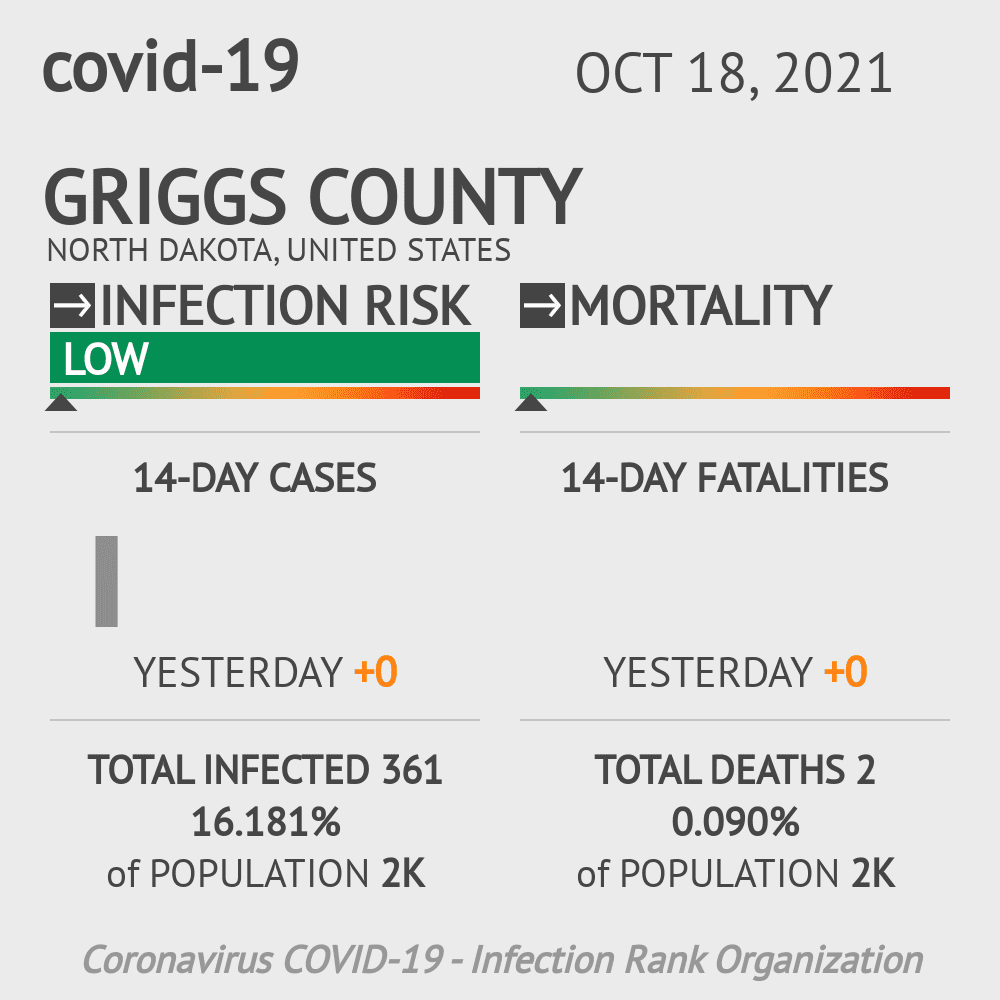 Griggs County Coronavirus Covid-19 Risk of Infection on July 24, 2021