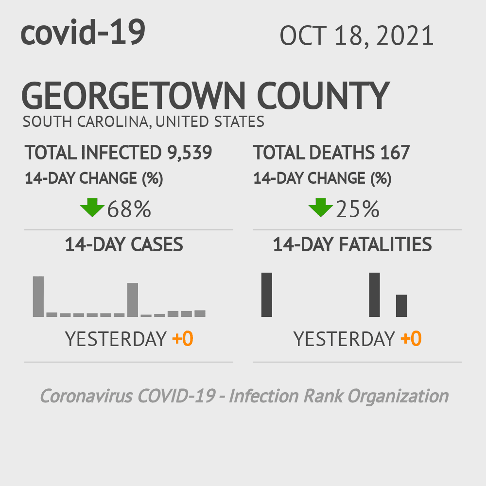 Georgetown County Coronavirus Covid-19 Risk of Infection on February 25, 2021