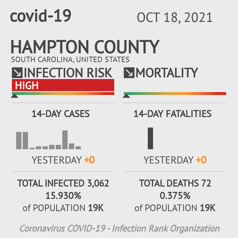 Hampton County Coronavirus Covid-19 Risk of Infection on July 24, 2021