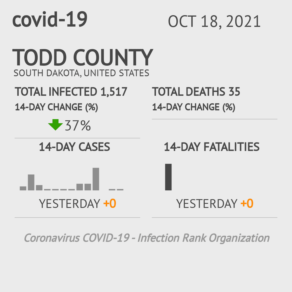 Todd County Coronavirus Covid-19 Risk of Infection on March 23, 2021
