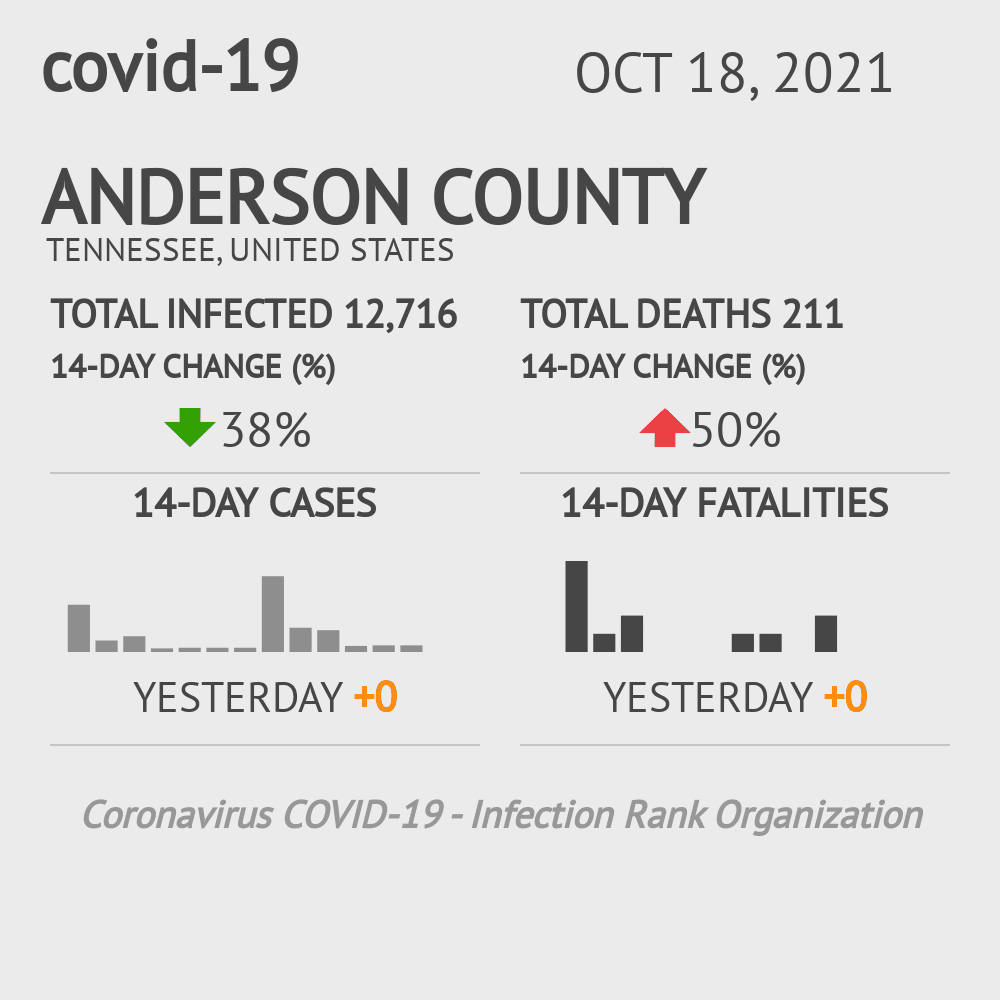 Anderson County Coronavirus Covid-19 Risk of Infection on November 24, 2020