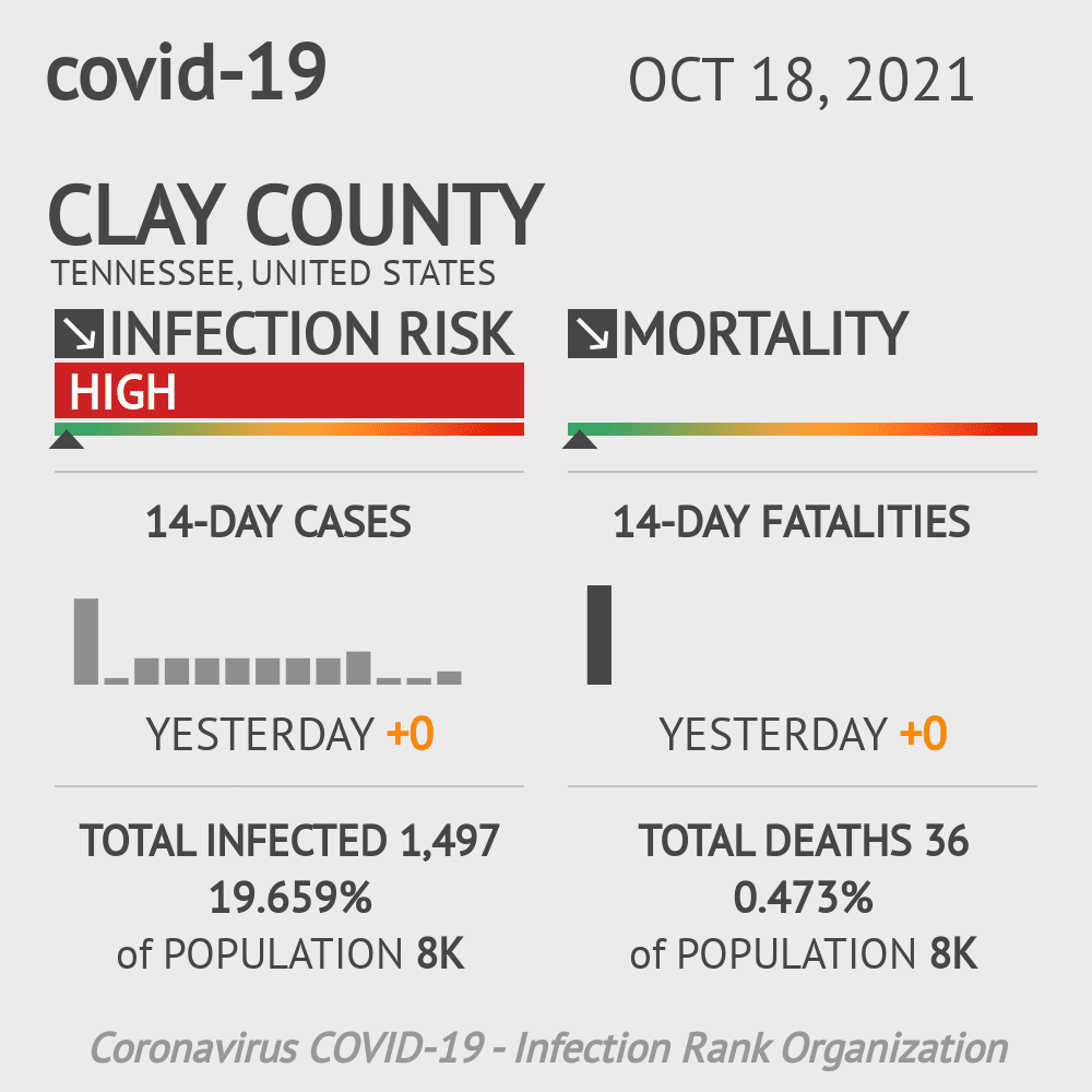 Clay County Coronavirus Covid-19 Risk of Infection on November 29, 2020