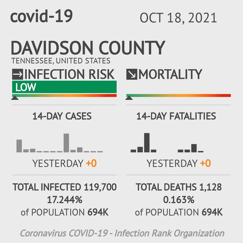 Davidson County Coronavirus Covid-19 Risk of Infection on February 26, 2021