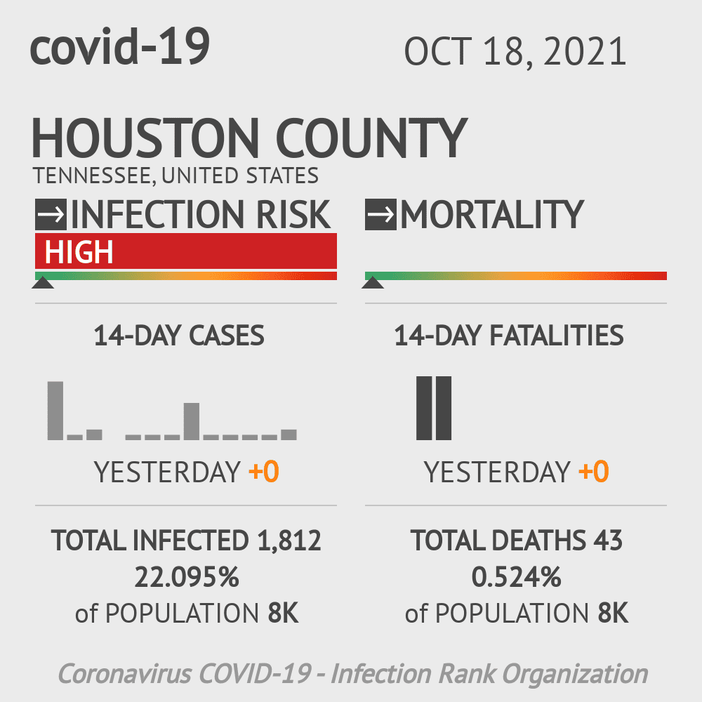 Houston County Coronavirus Covid-19 Risk of Infection on March 23, 2021