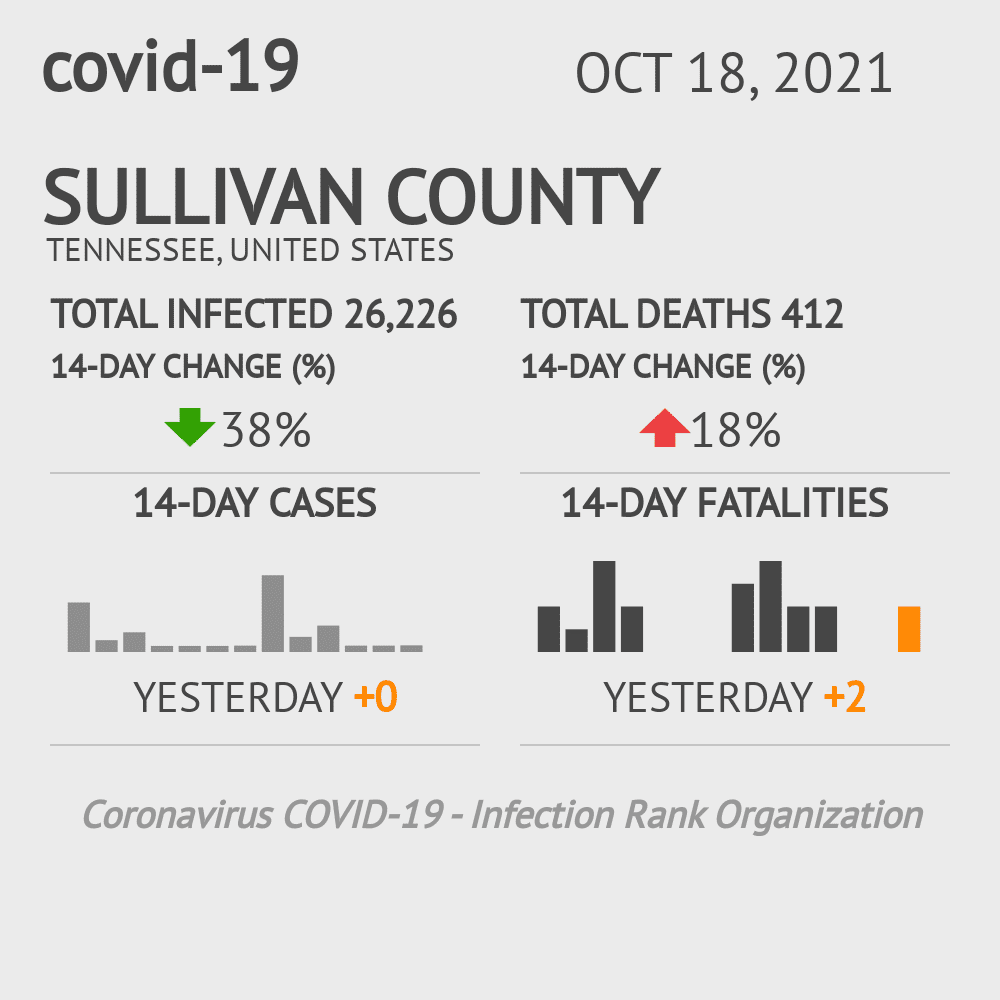 Sullivan County Coronavirus Covid-19 Risk of Infection on January 20, 2021