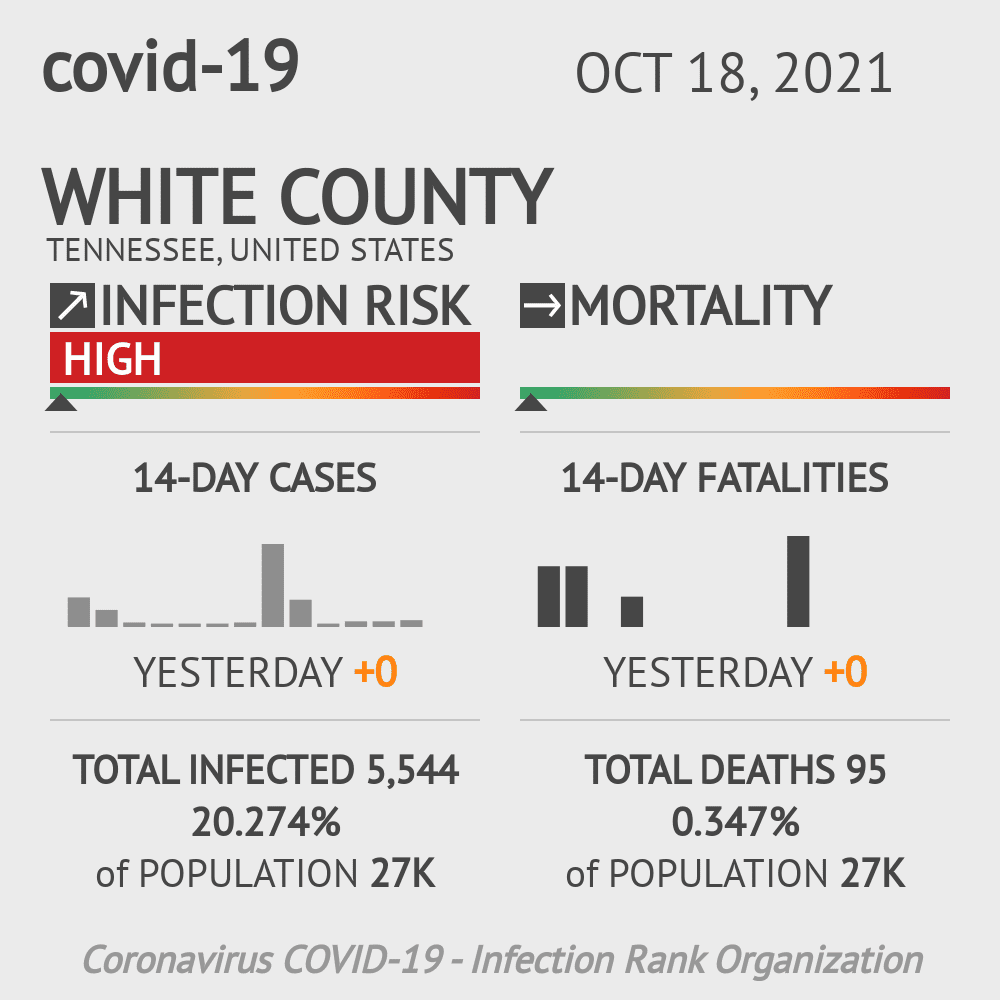 White County Coronavirus Covid-19 Risk of Infection on March 23, 2021