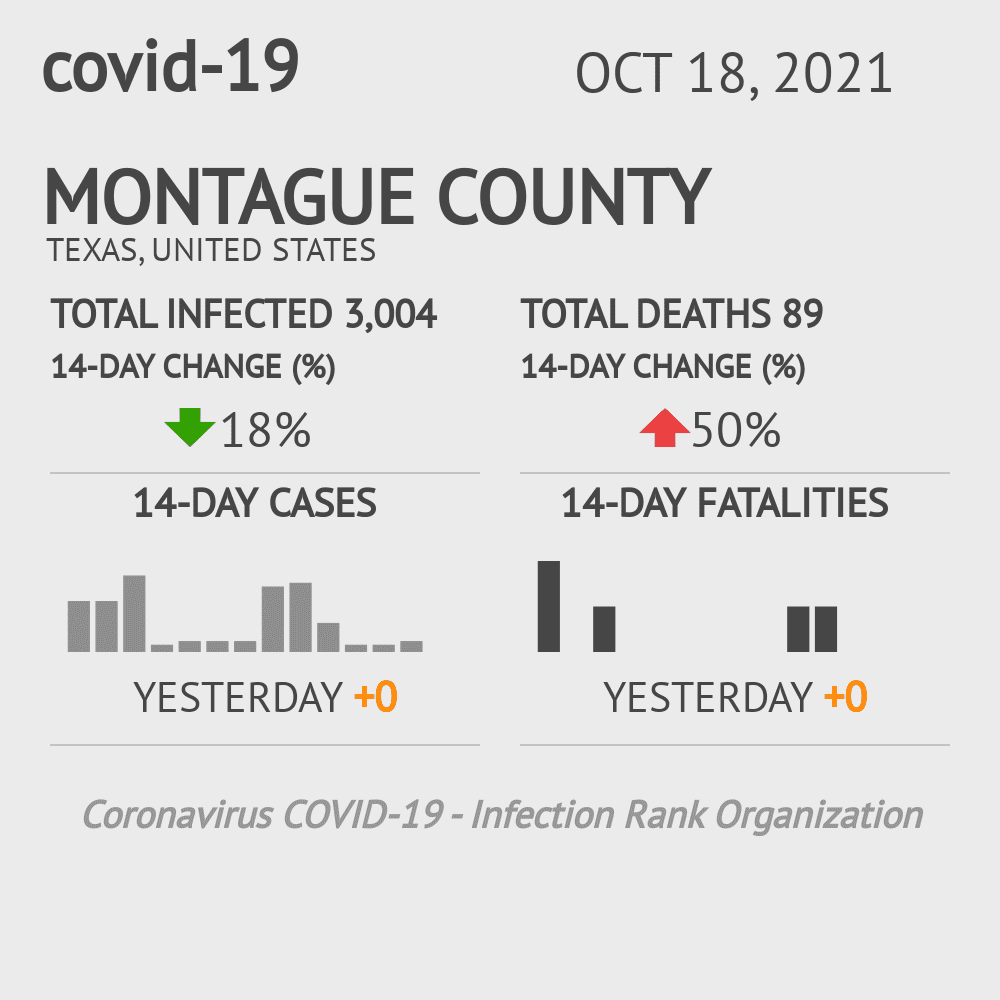 Montague County Coronavirus Covid-19 Risk of Infection on October 24, 2020