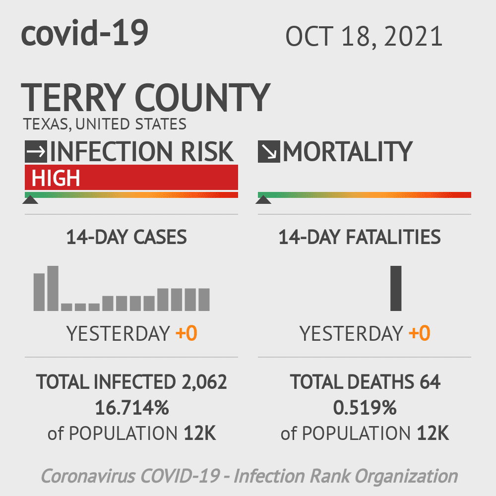 Terry County Coronavirus Covid-19 Risk of Infection on October 30, 2020