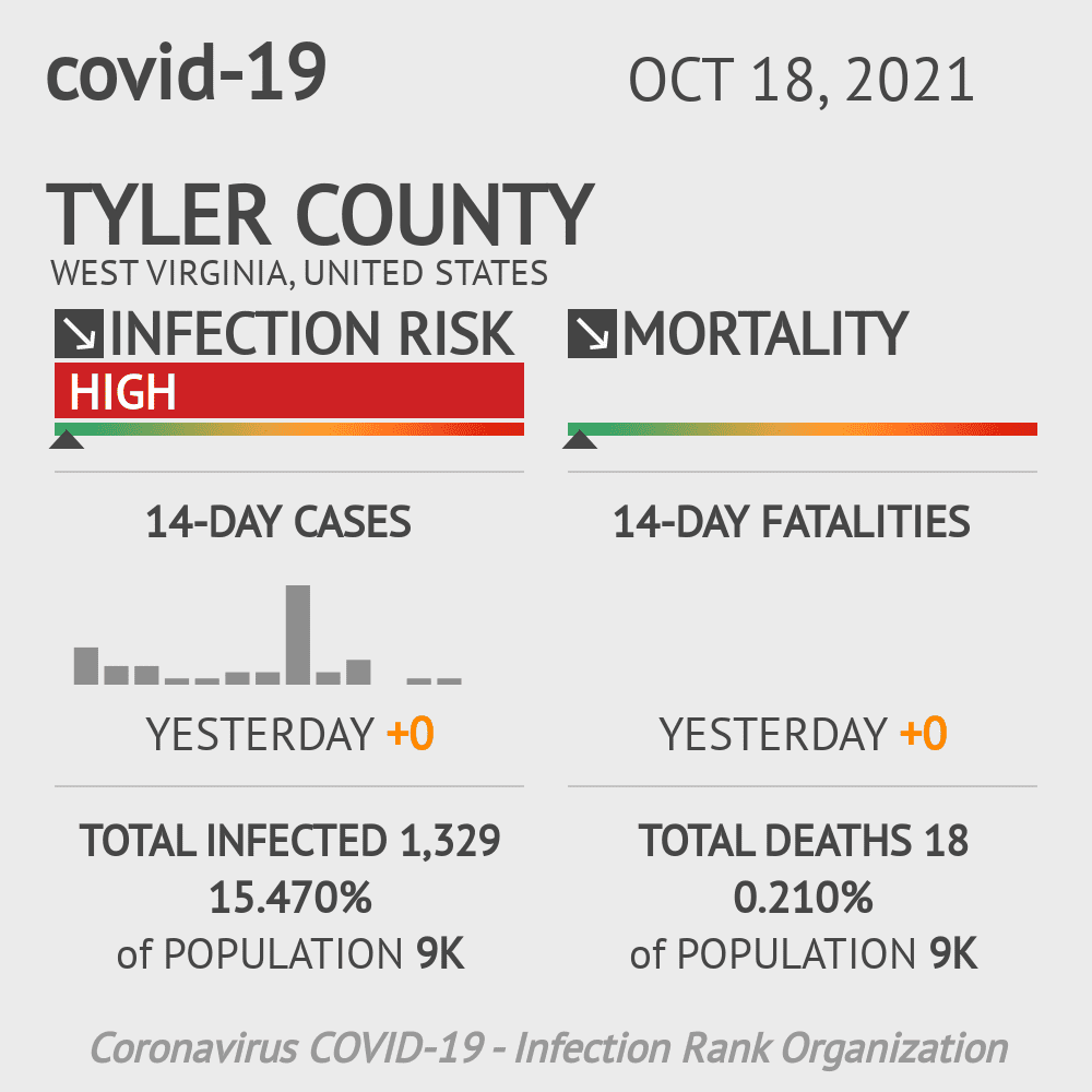 Tyler County Coronavirus Covid-19 Risk of Infection on March 23, 2021